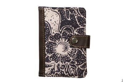 Batik Passport Holder - Dark Rafflesia