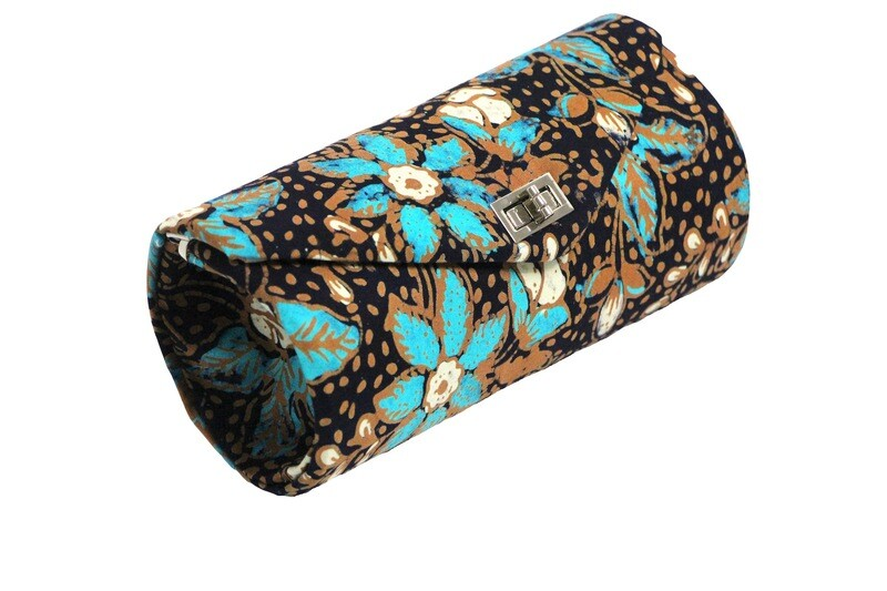 Batik Clutch - Blue Teratai