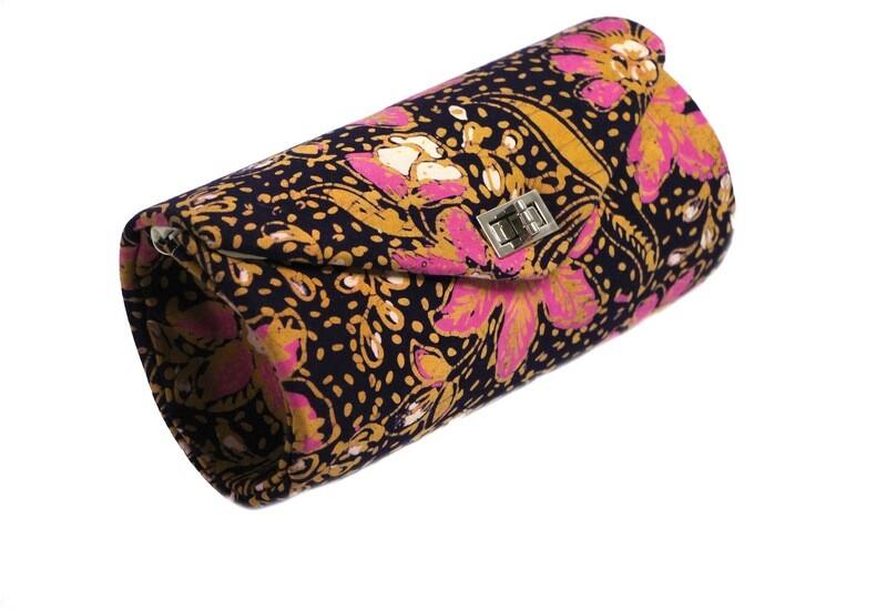Batik Clutch - Pink Teratai