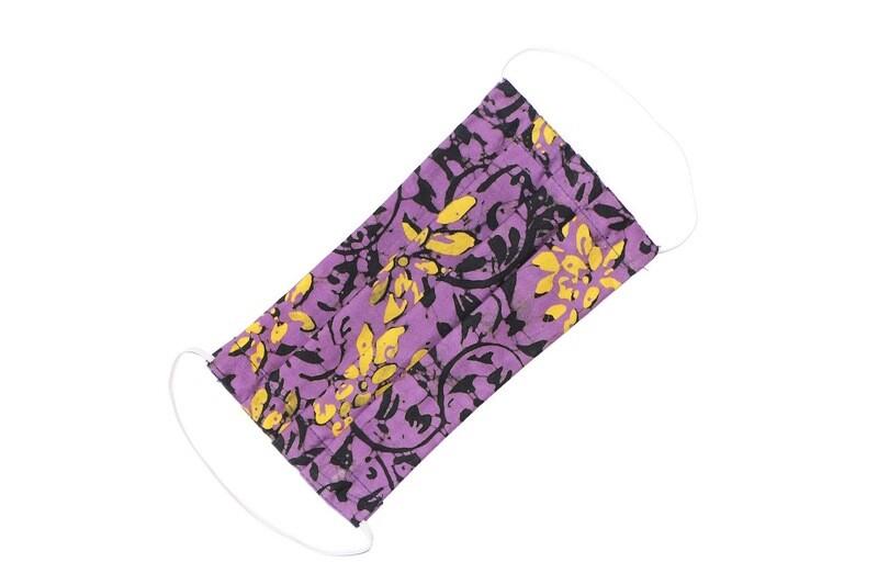 Kids Batik Face Mask - Purple