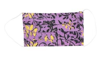 Reusable Batik Face Mask - Purple