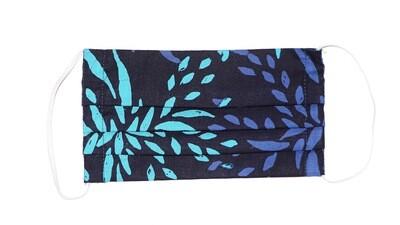 Reusable Batik Face Mask - Blue Shoots