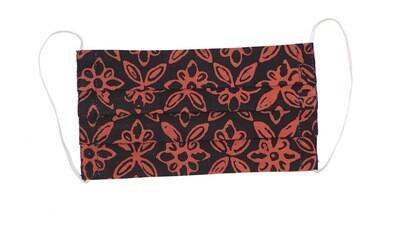 Reusable Batik Face Mask - Red