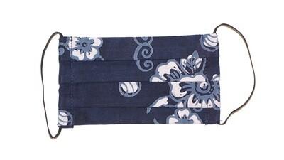 Reusable Batik Face Mask - Winter Flowers