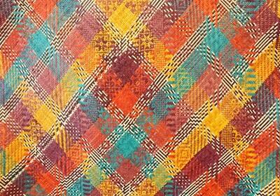 Fine Pandan Mat with Kelarai Weave - Bold Tropics (3ft x 6ft)