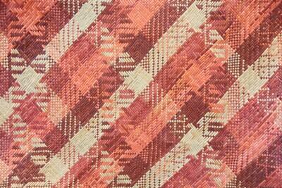 Fine Pandan Mat with Kelarai Weave - Rustic Hues (2.5ft x 4.5ft)
