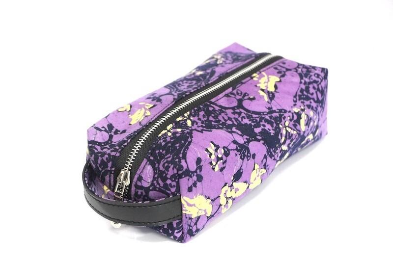 Batik Pouch (Medium) - Purple