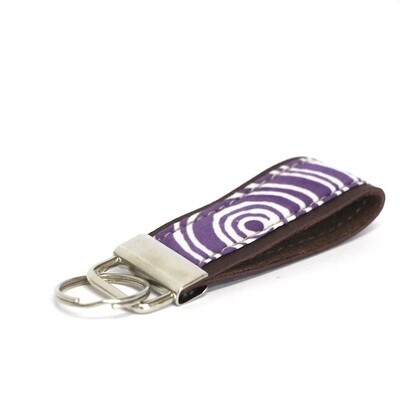 Batik Key Fob - Purple Eclipse