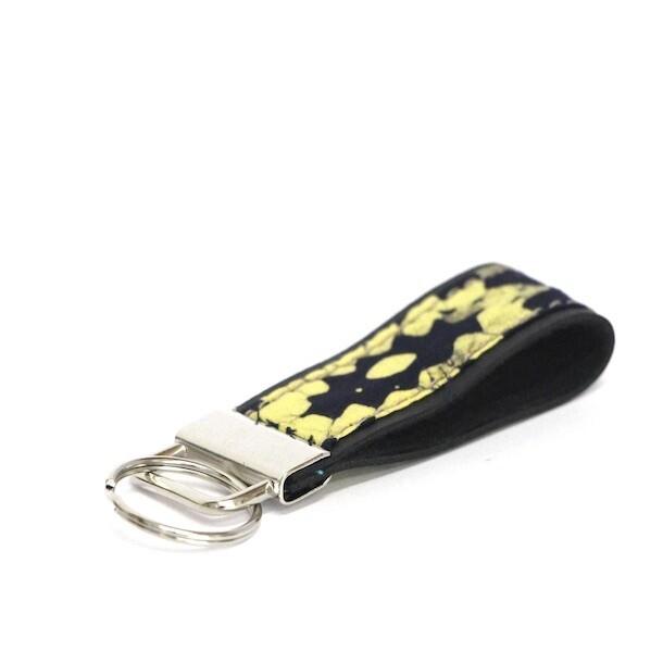 Batik Key Fob - Yellow Losange