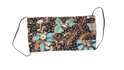 Reusable Batik Face Mask - Turquoise Teratai