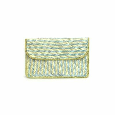Exclusive Finely-Woven Kelarai Flat Clutch - Sunshine