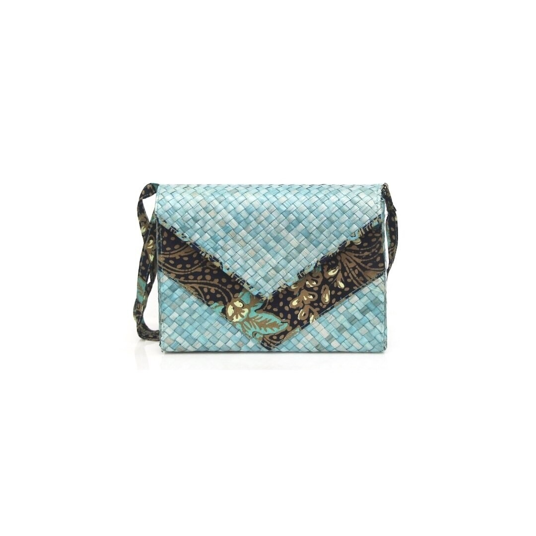 Mengkuang Sling Bag - Turquoise