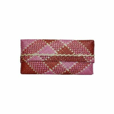 Mengkuang Sumpit Clutch - Red & Pink