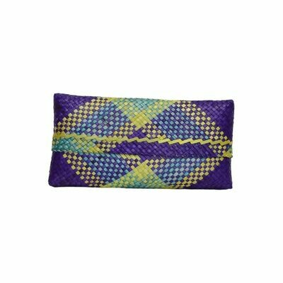 Mengkuang Sumpit Clutch - Purple with Sunny Stripes