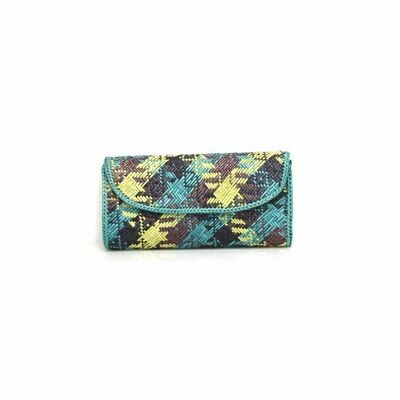 Exclusive Finely-Woven Kerarai Clutch - Tropical Hues