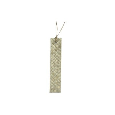Mengkuang & Batik Bookmark - Natural Sage