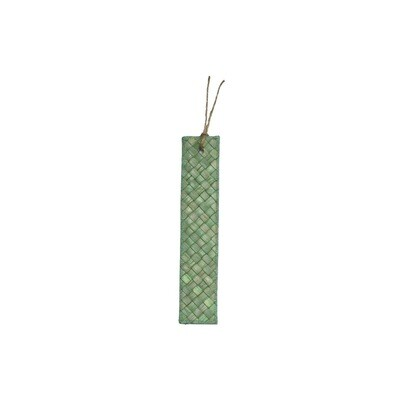 Mengkuang & Batik Bookmark - Green Sage