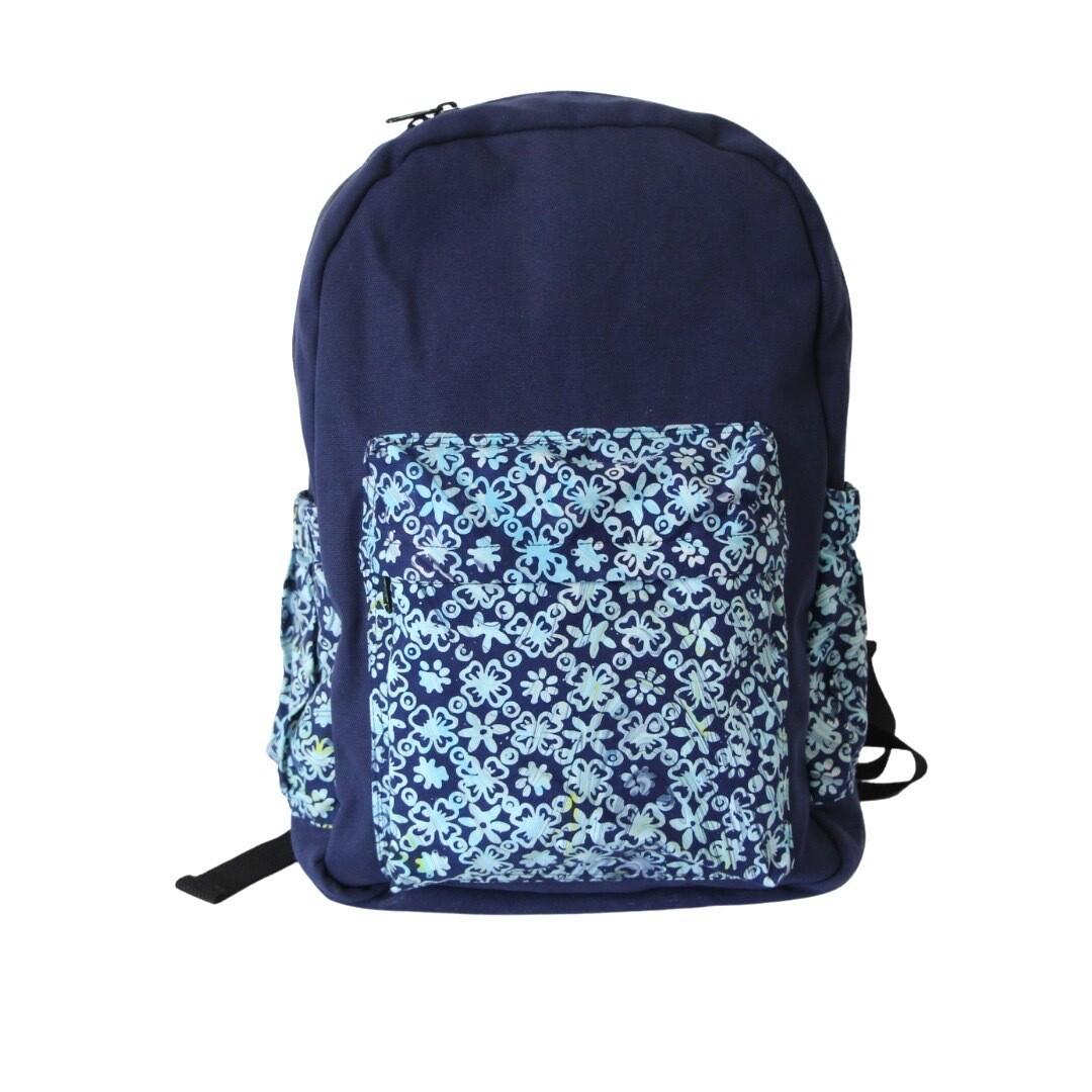 Batik Backpack - Marvelous Blue