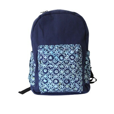 Batik Backpack - Marvelous Blue