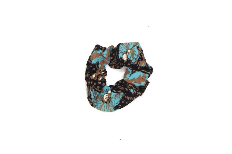Batik Scrunchie - Blue Teratai