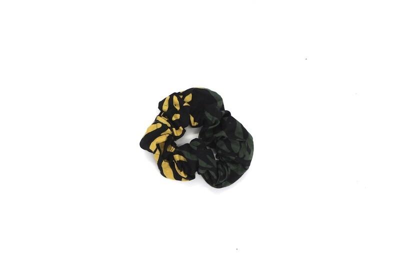 Batik Scrunchie - Green Shoots
