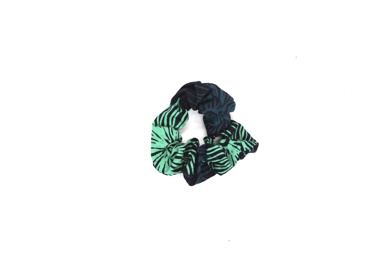 Batik Scrunchie - Turquoise Urchin