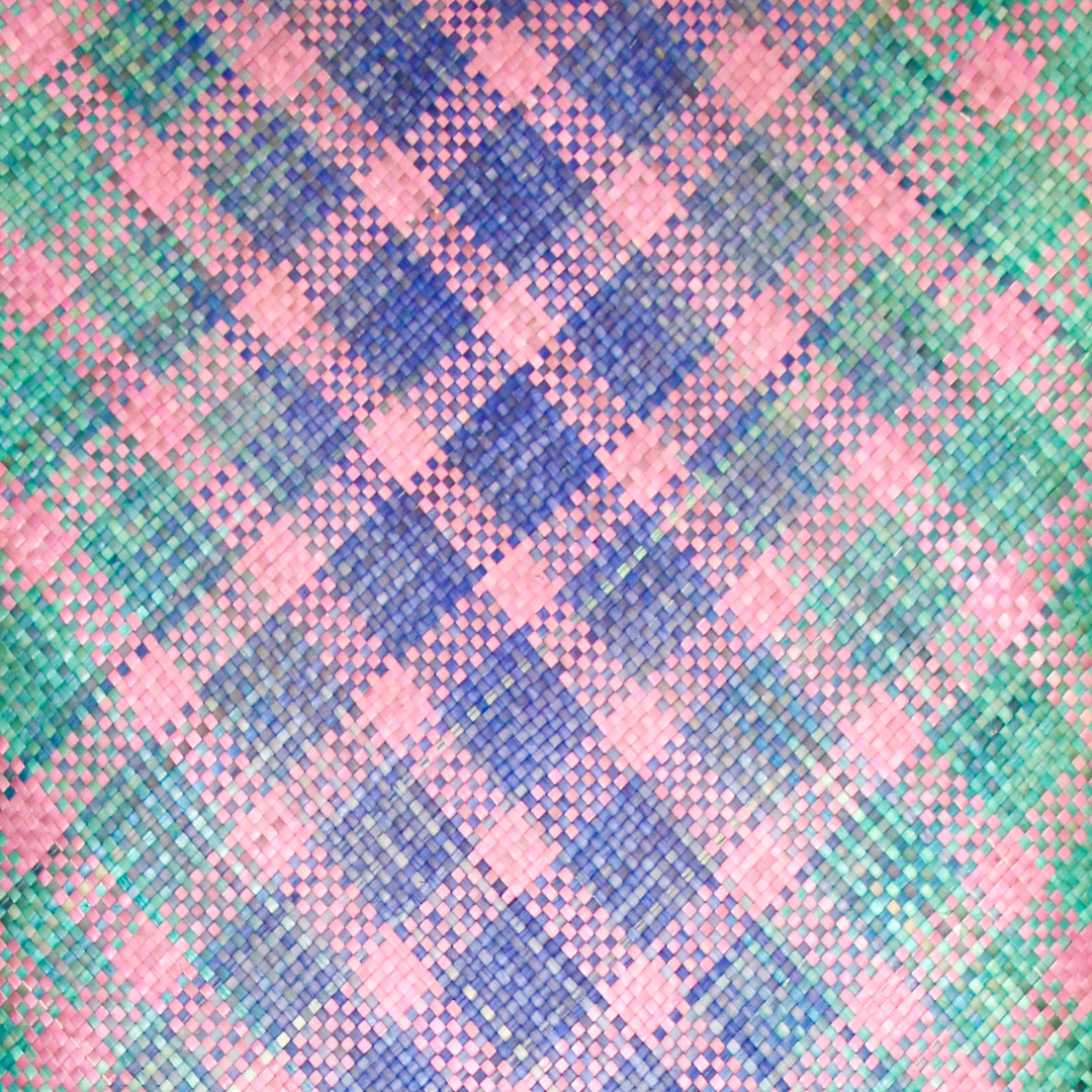 Tropical Ombre with Pink Stripes Mengkuang Mat (3ft x 6ft)