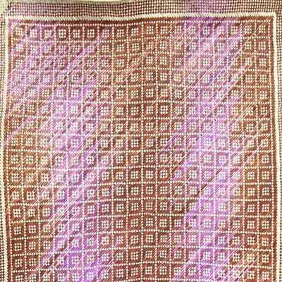 Earthy Durian's Flower with Pink Ombre Finely-Woven Kelarai Mat (2ft x 4ft)