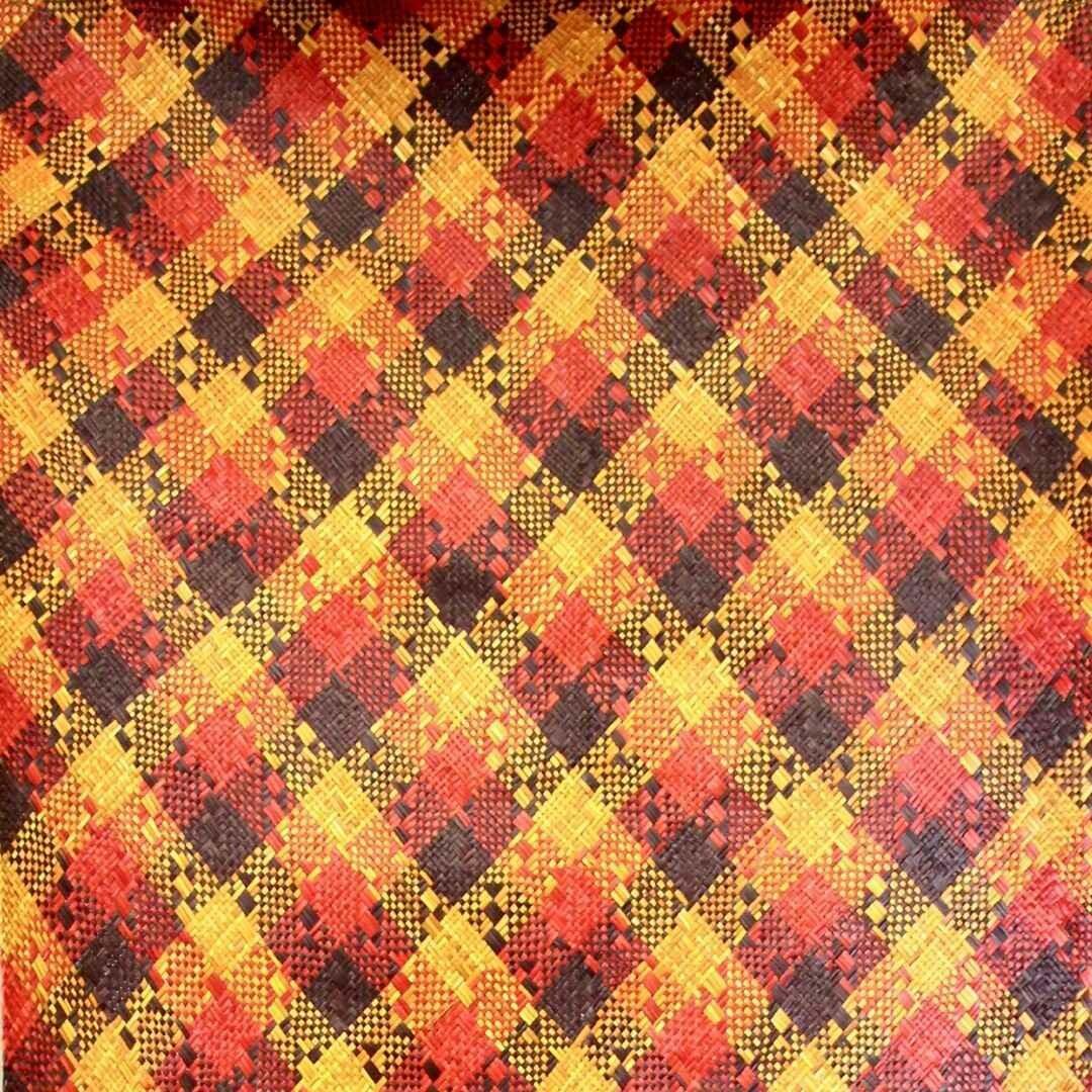 Bold Fire & Earth Finely-Woven Kelarai Mat (2.5ft x 5.75ft)