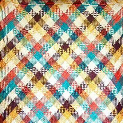 Vibrant Summer Finely-Woven Kelarai Mat (3ft x 5.75ft)