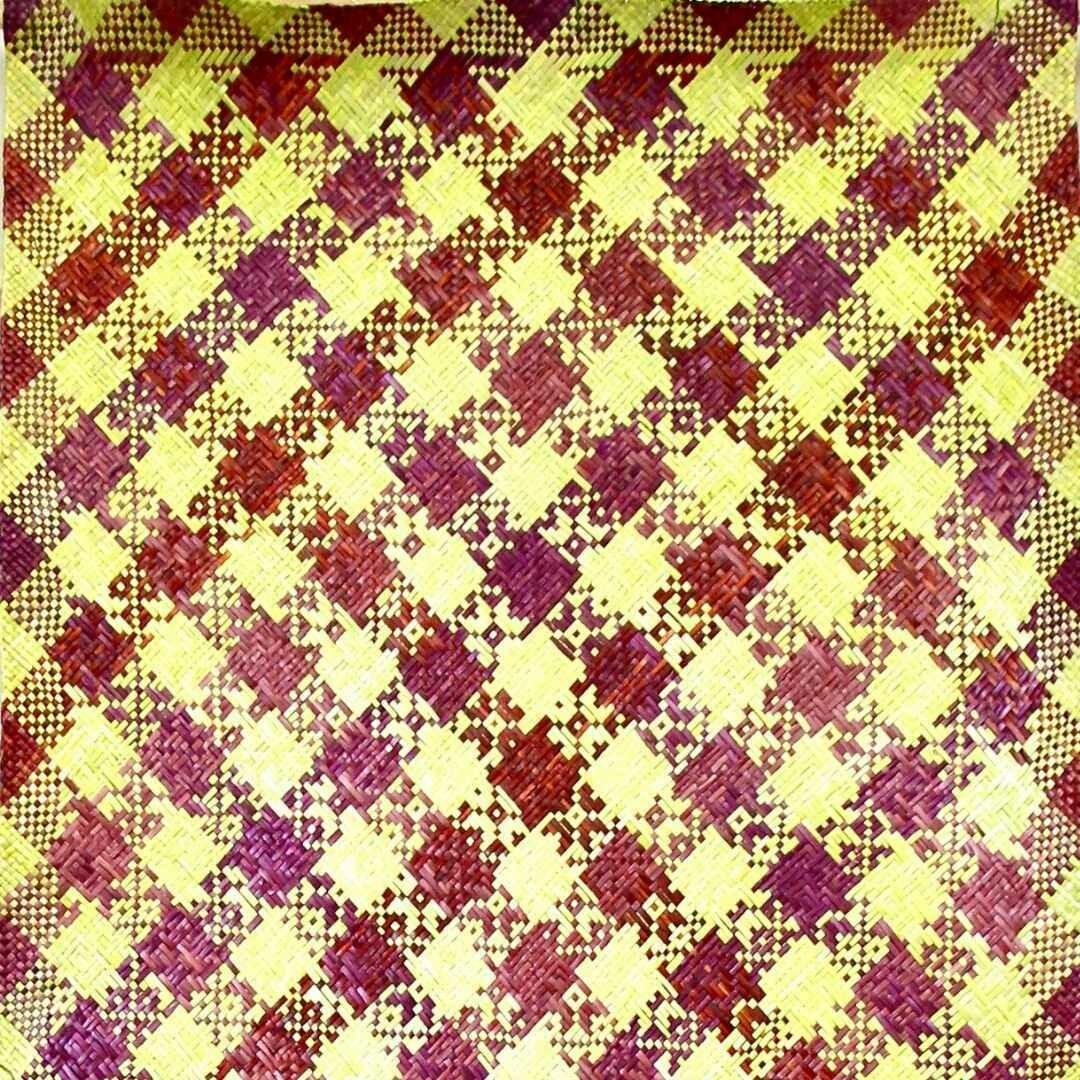 Banana Shoot with Brown Finely-Woven Kelarai Mat (2ft x 4ft)