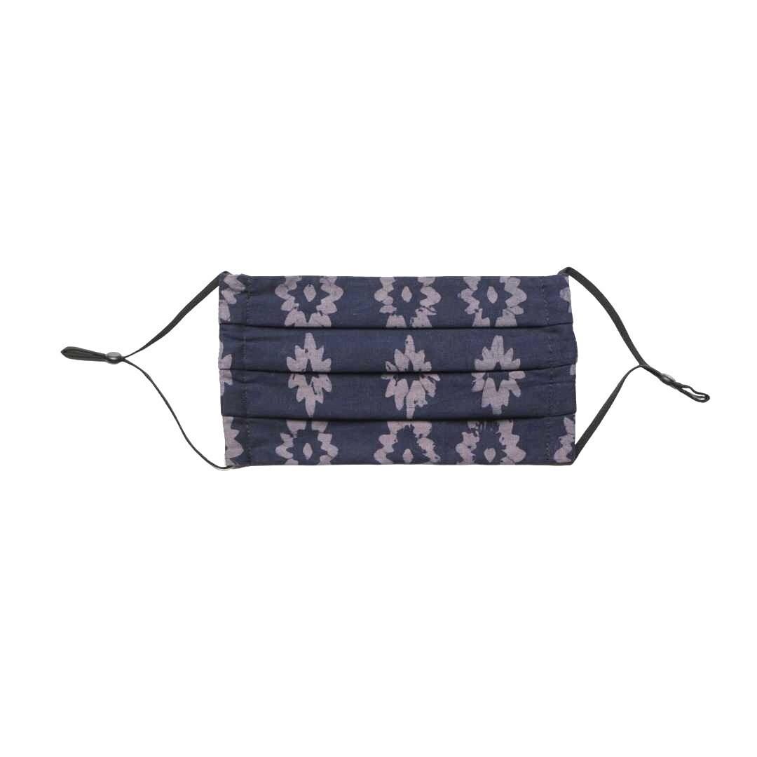 Reusable Batik Face Mask - Navy