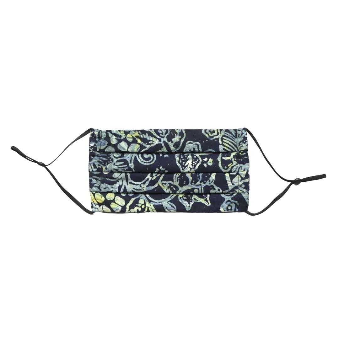 Reusable Batik Face Mask - Marvelous Navy Flowers
