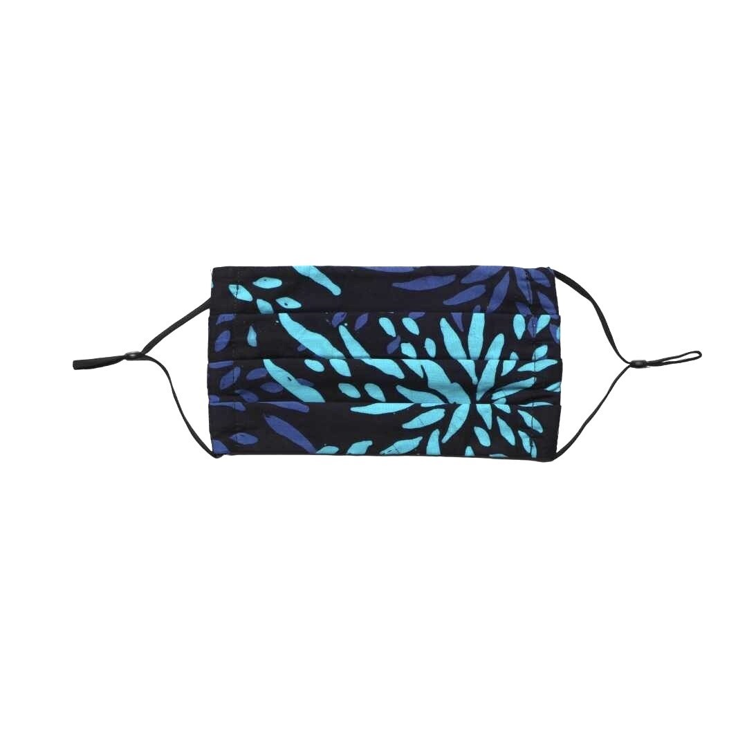 Reusable Batik Face Mask - Blue Shoots