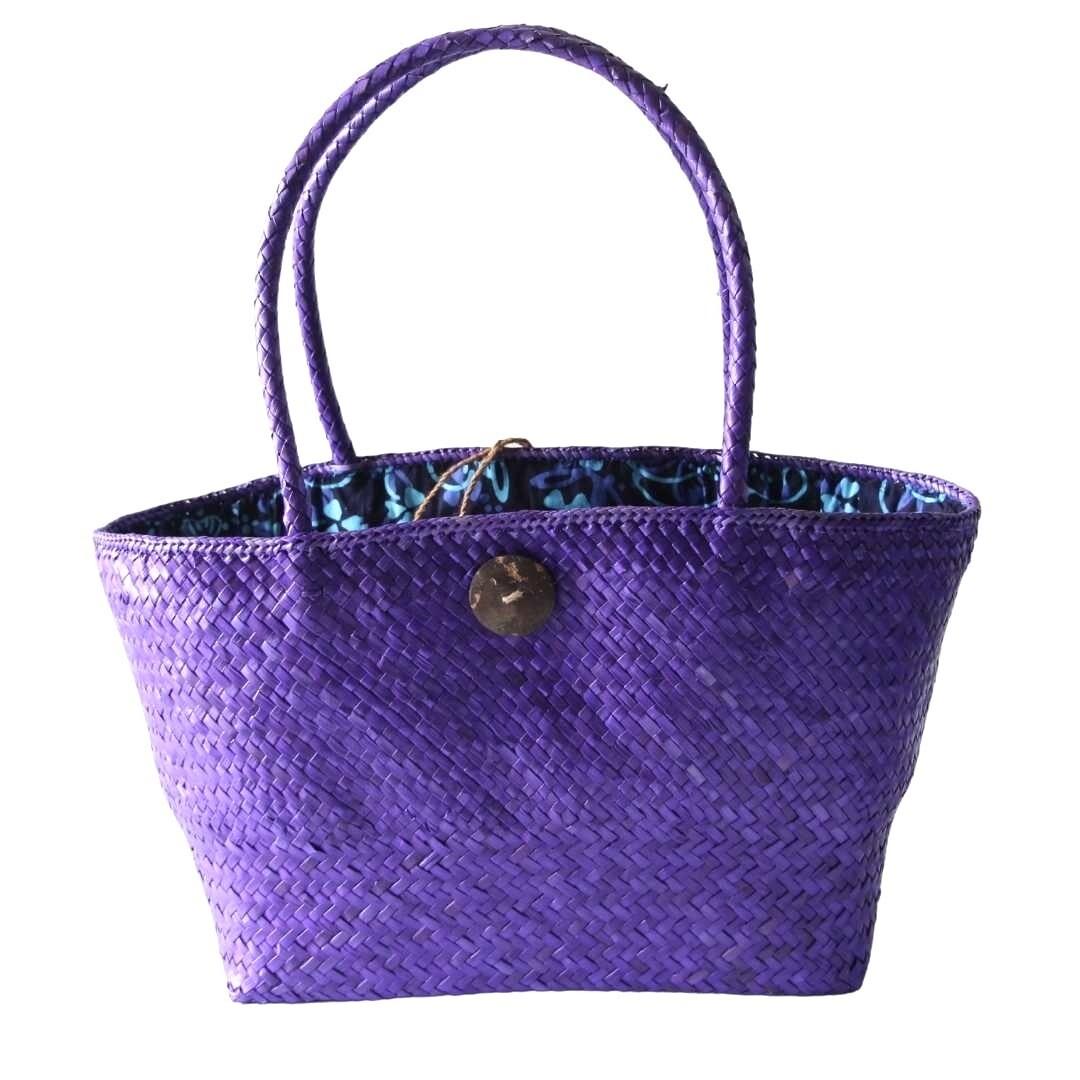Khadijah Signature Mengkuang Tote Bag - Purple