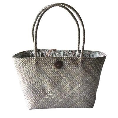 Khadijah Signature Mengkuang Tote Bag - Rustic Grey