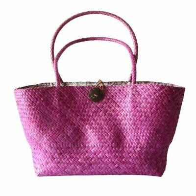 Khadijah Signature Mengkuang Tote Bag - Soft Pink