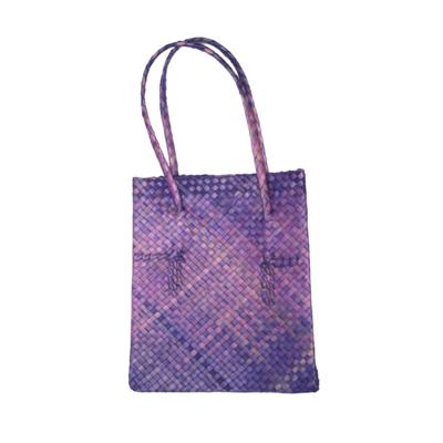 Rustic Mengkuang Tote Bag - Violet Ombre