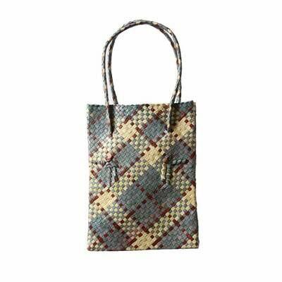 Rustic Mengkuang Tote Bag - Grey