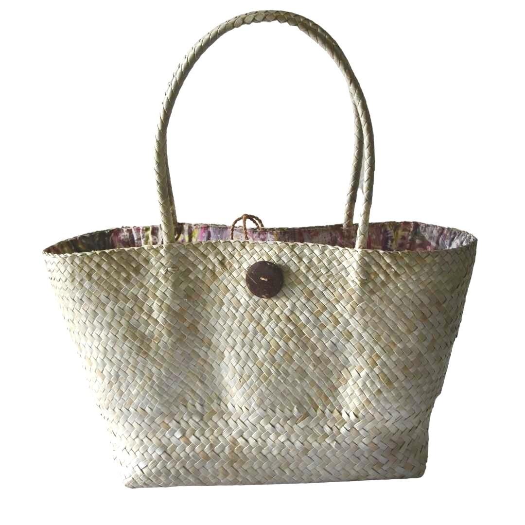 Khadijah Signature Mengkuang Tote Bag - Natural Colour