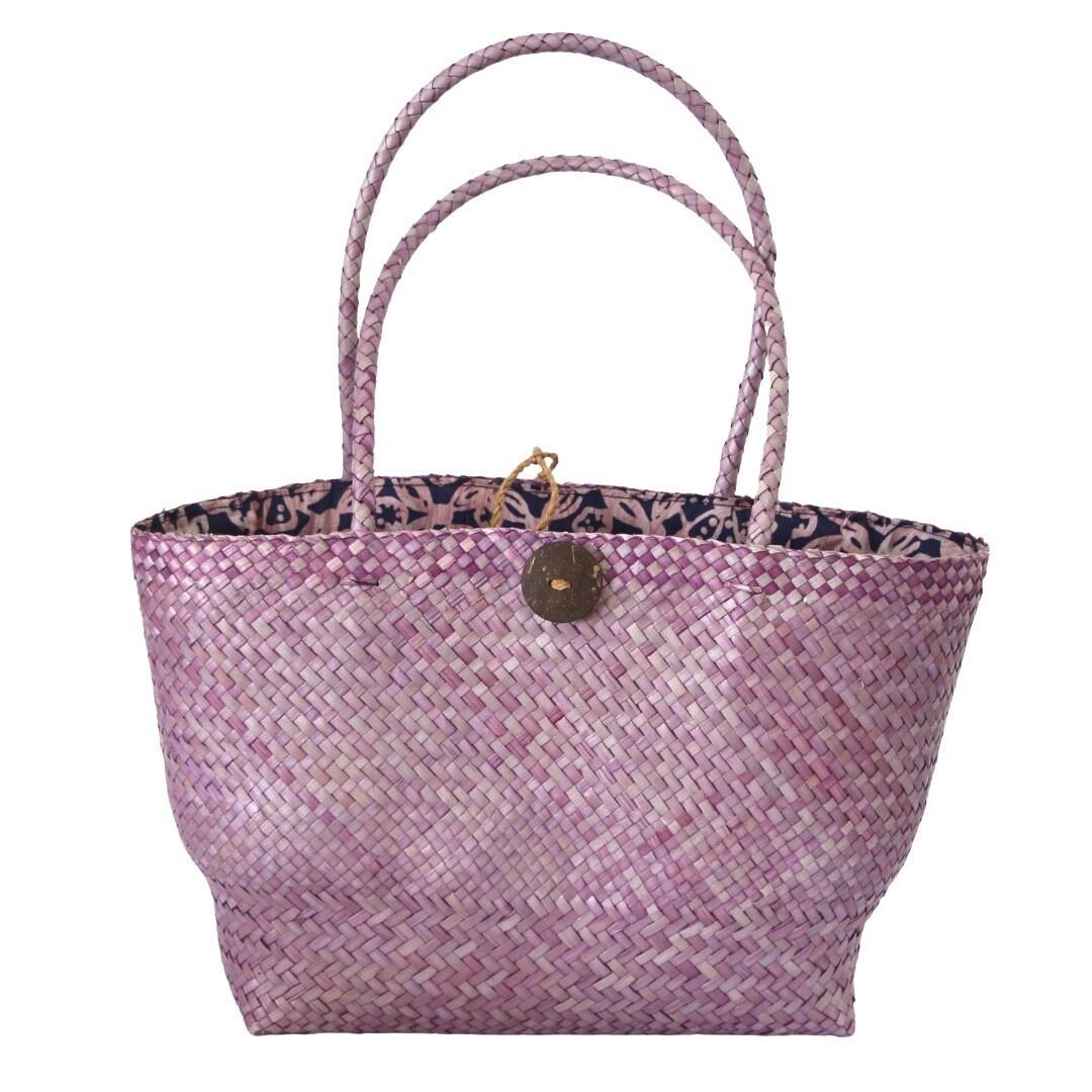 Khadijah Signature Mengkuang Tote Bag - Soft Purple