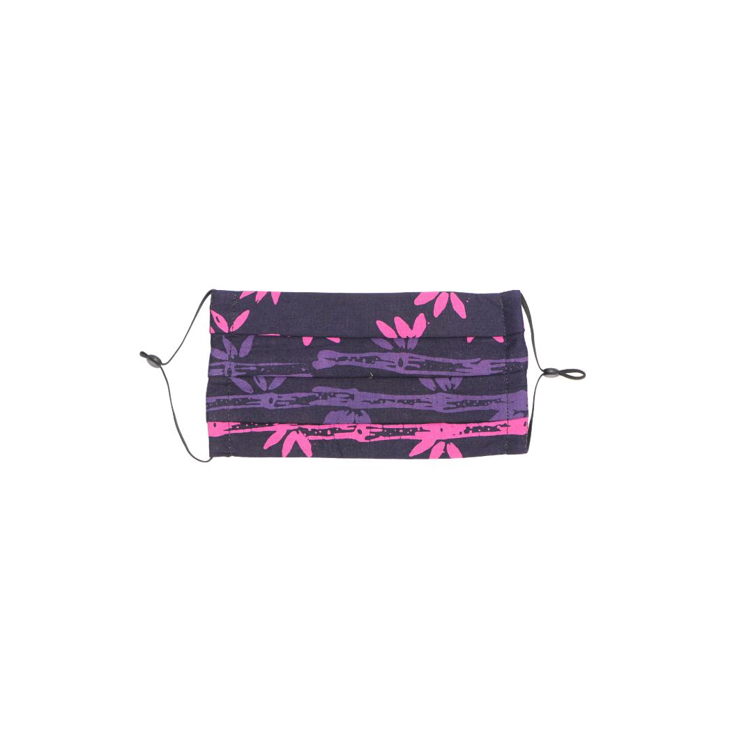 Reusable Batik Face Mask - Pink Jungle (Horizontal)