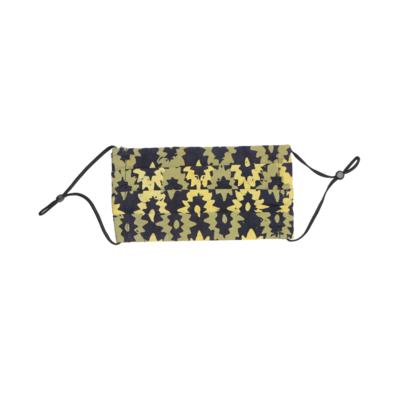 Reusable Batik Face Mask - Yellow