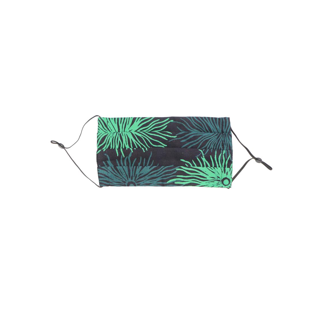 Reusable Batik Face Mask - Turquoise corals