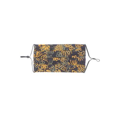 Reusable Batik Face Mask - Yellow Wau