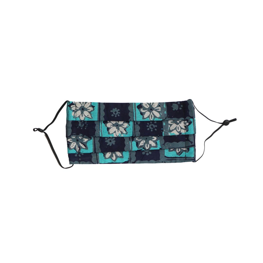 Reusable Batik Face Mask - Blue Mosaic