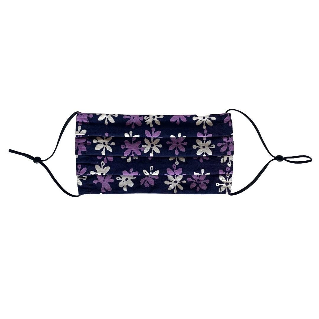 Reusable Batik Face Mask - Bouton d'Or (Purple)