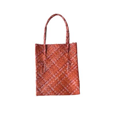 Rustic Mengkuang Tote Bag - Rustic Red