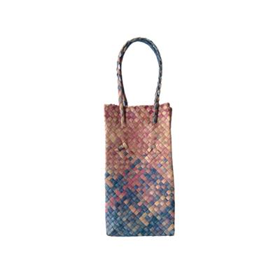 Mengkuang Bottle Bag - Violet and Blue