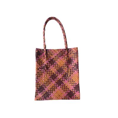Rustic Mengkuang Tote Bag - Earthy Tones